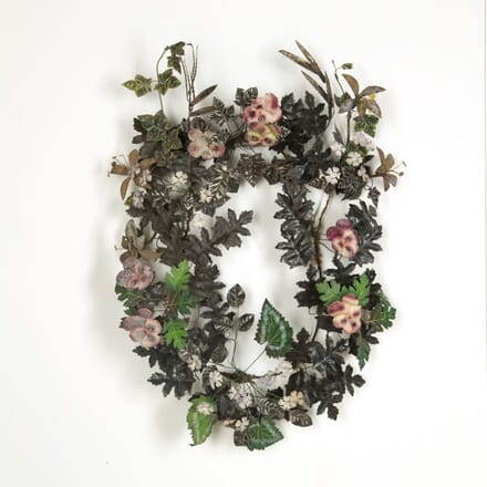 19th Tole and Porcelain Wreath WD159107