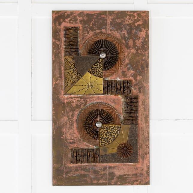 1960s French Decorative Metal Wall Panel DA0614268