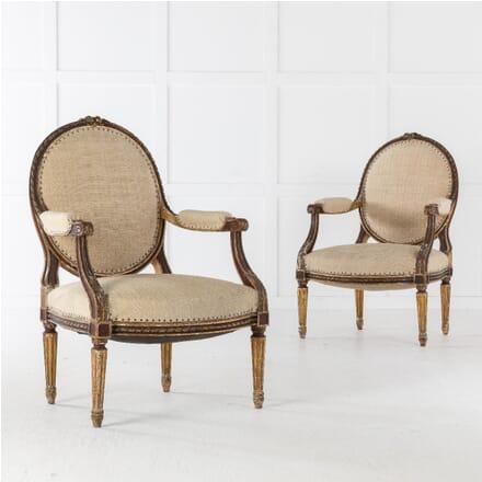 Pair of 19th Century Gilt Armchairs CH0610640