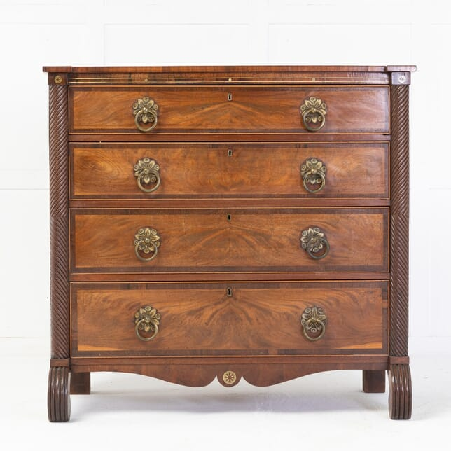 19th Century Regency Mahogany and Rosewood Chest of Drawers CC0614791