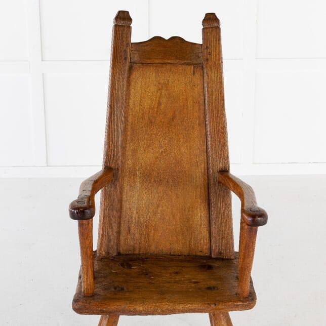 18th Century Belgian Primitive Ash Chair CH0612572