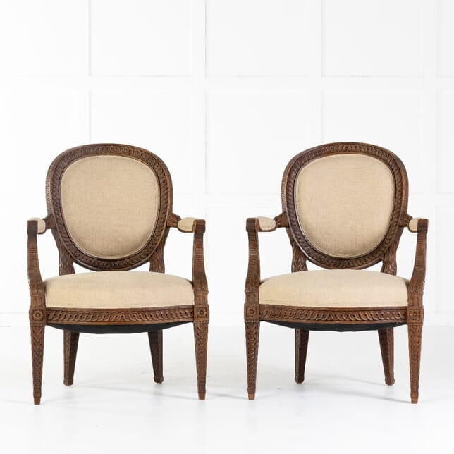 Pair of French 18th Century Armchairs CH0613143