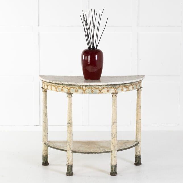 18th Century Italian Demilune Console Table CO0612569
