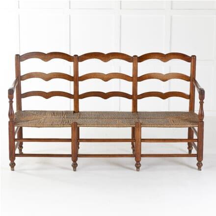 18th Century French Rush Seat Bench SB0612001