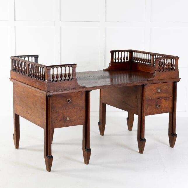 Grand Scale 18th Century Walnut Italian Desk DB0612173