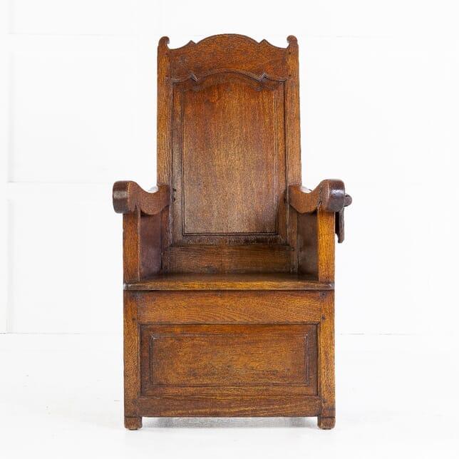 19th Century Dutch Ash Lambing Chair CH0614122