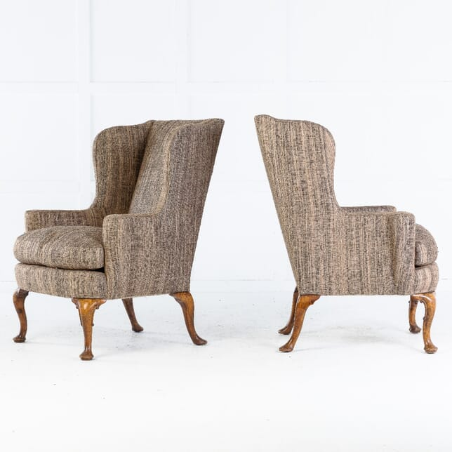 Pair of 1930s English Wing Armchairs CH0614126
