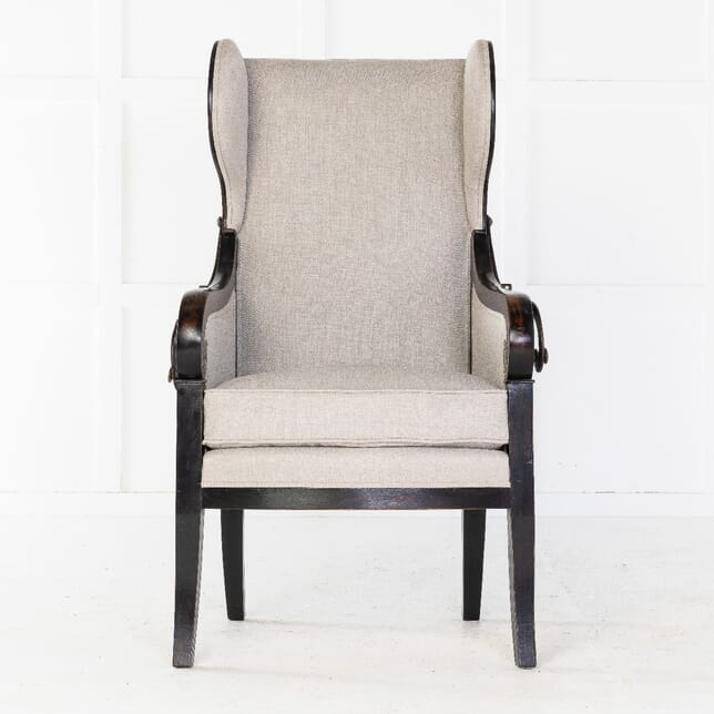 Early 19th Century French Ebonised Reclining Armchair CH0613955