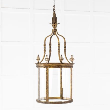 19th Century Gilt Bronze Hall Lantern LL0614127