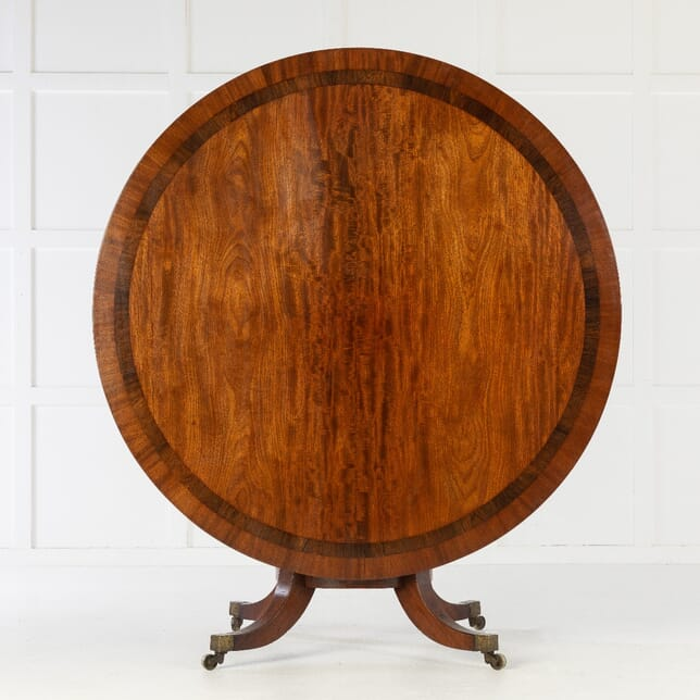 19th Century Regency Mahogany Large Circular Centre Table CO0614262