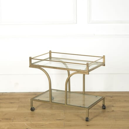 20th Century French Brass Two Tier Drinks Trolley TS749284
