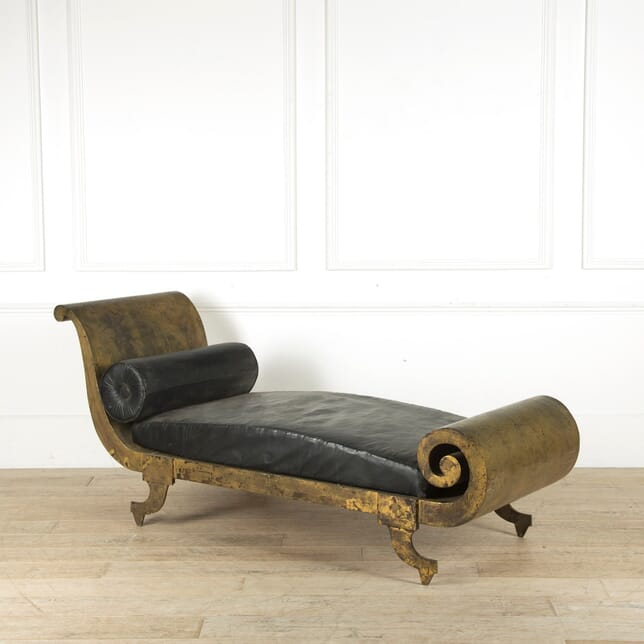 20th Century Gilt Metal Daybed SB999928