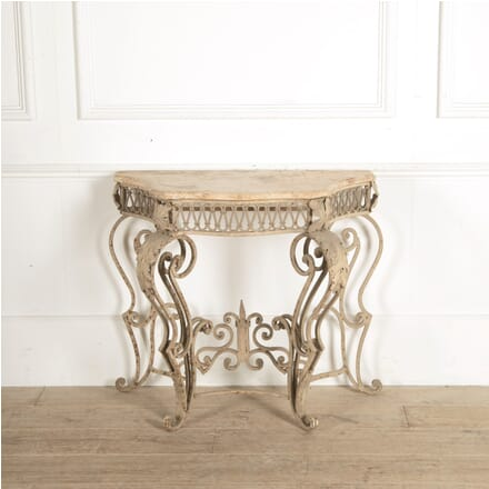 20th Century Metal and Marble Console Table CO2059770