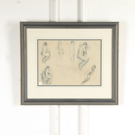 20th Century Pen and Ink Female Nude Studies WD8214151
