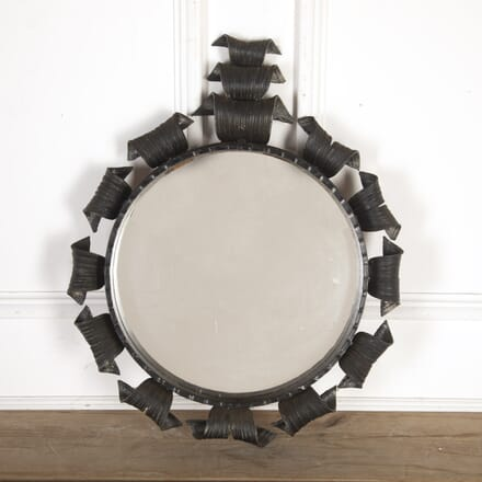 20th Century Round Metal Mirror MI7913593