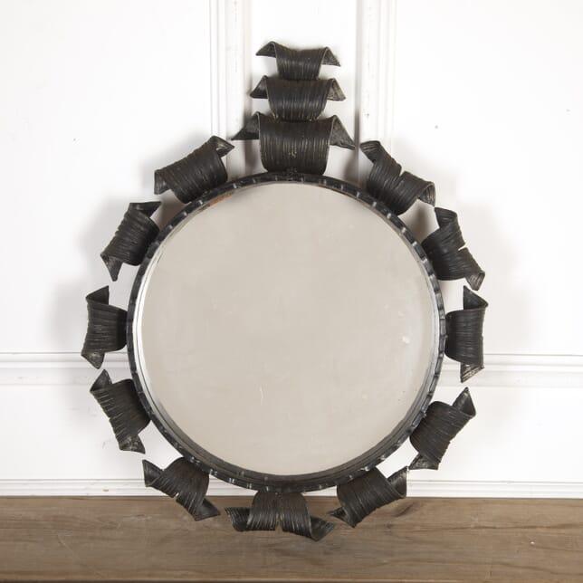 20th Century Round Metal Mirror MI7913593