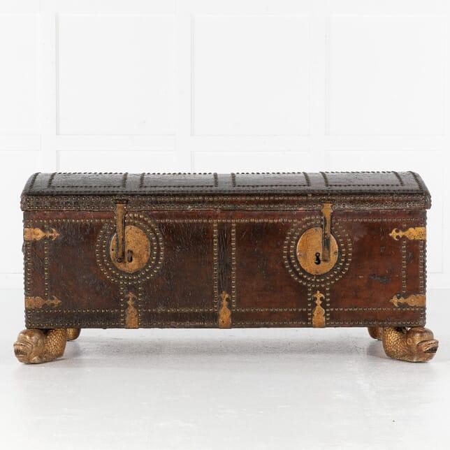 18th Century Leather Bound Spanish Trunk CB0613490