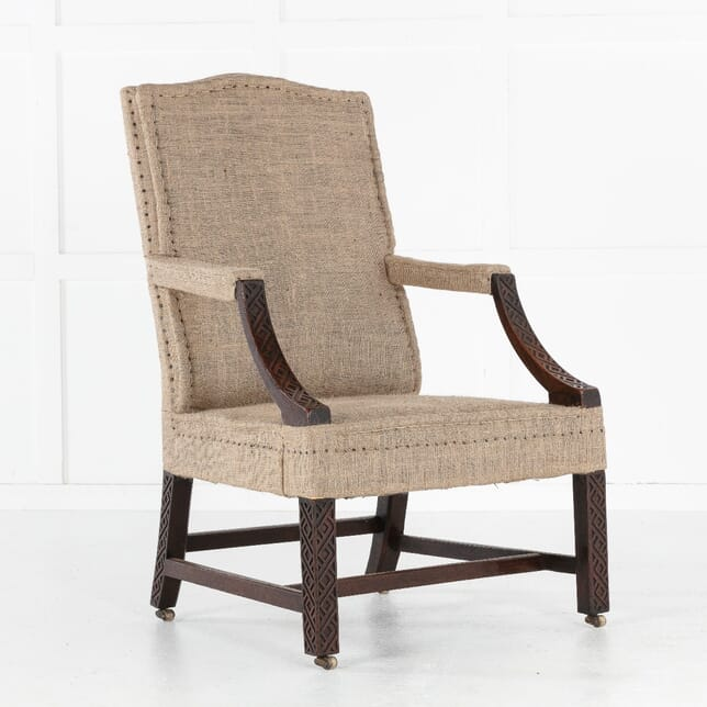 18th Century George III Mahogany Gainsborough Chair CH0613723