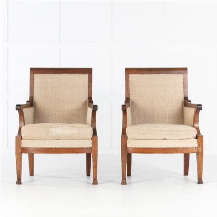 Pair of 19th Century French Walnut Armchairs CH0613350
