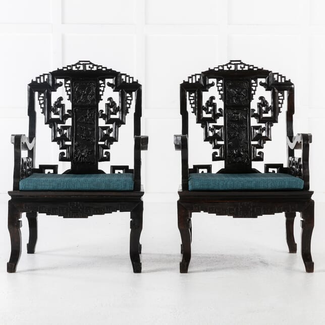 Pair of 1940s Chinese Chairs (DISABLED LISTING FOR LEE 8/1/2021) CH0613043