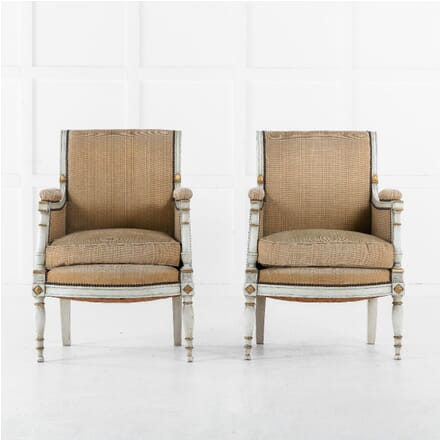 19th Century Pair of French Painted Chairs CH0613142