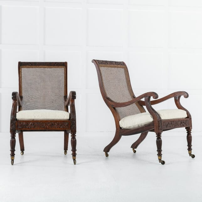 Pair of 19th Century Anglo-Indian Plantation Chairs CH0613141