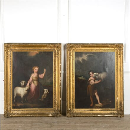 Pair of 19th Century Oil on Canvas Paintings WD889704