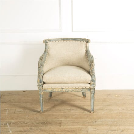 Painted Swedish Armchair in Empire Style CH9058177