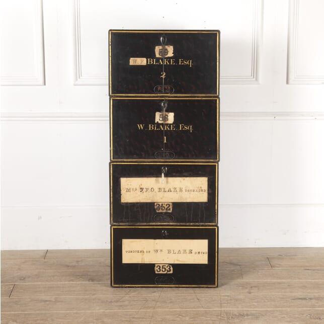 Set of Four 19th Century Deed Boxes DA0514010