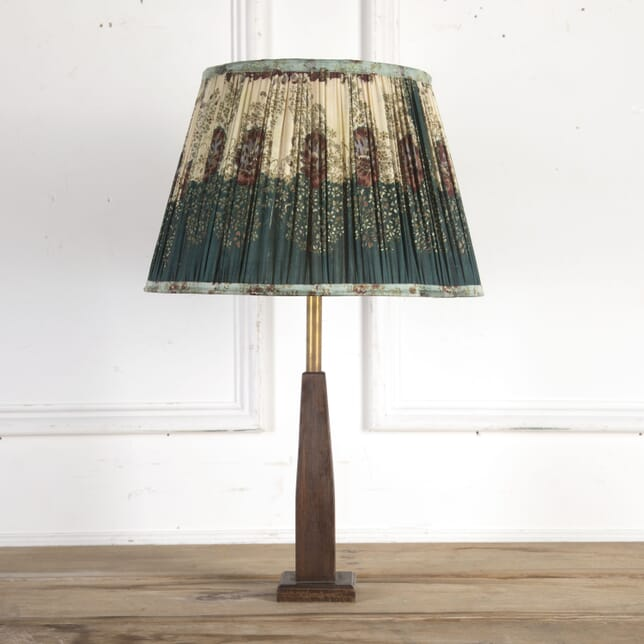 40cm Forest Green and Cream Silk Lampshade DA6614195