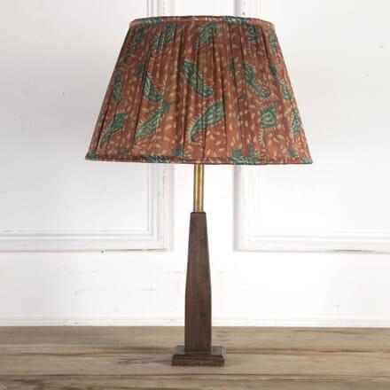 40cm Terracotta & Teal Paisley Silk Lampshade DA6614194