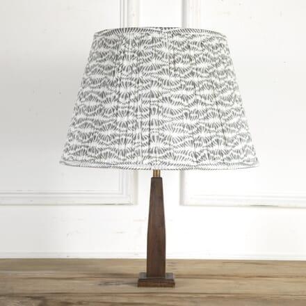 50cm Grey and White Bangla Cotton Lampshade DA6614205