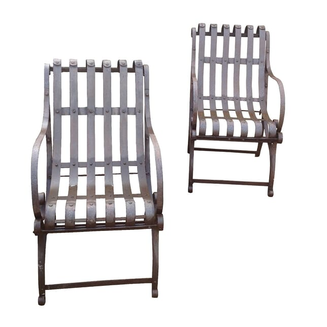 Pair of 20th Century Garden Chairs GA4259449