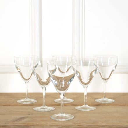 6 Large Crystal Wine or Water Goblets by Val Saint Lambert DA589118