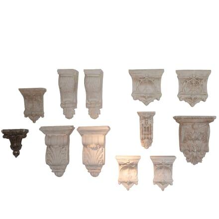Set of 12 Classical Plaster Corbels - Circa 1920 WD4462159