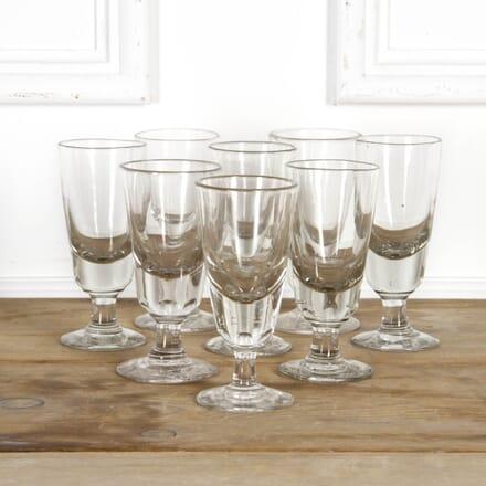 Set of Eight Handblown Bistro Glasses DA7117679