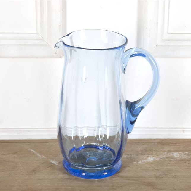 Art Deco Blue Uranium Glass Cocktail or Water Jug DA5812409