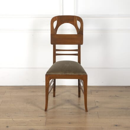 Austrian Secessionist Carved Fruitwood Side Chair CH7612473