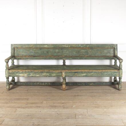 Baroque Style Swedish Bench c.1820 SB9013196
