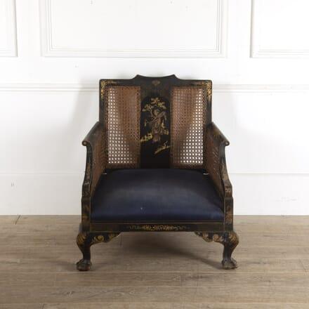 Black Chinoiserie Chair CH7812301