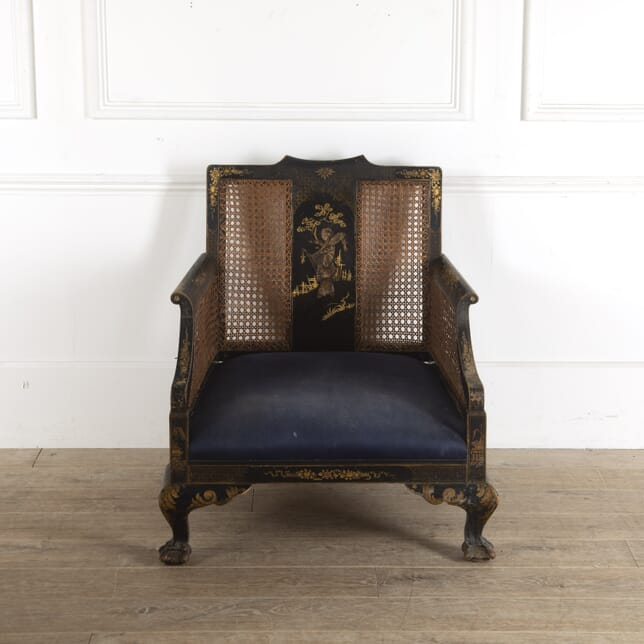 Black Chinoiserie Chair CH7812301