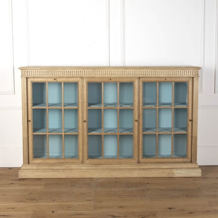 Bleached Oak Three Door Bookcase BK3612429