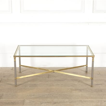 Coffee Table in Brass and Brushed Steel CT3012785