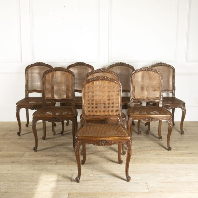 Decorative Set of Eight Early 20th Century French Dining Chairs CD8812209