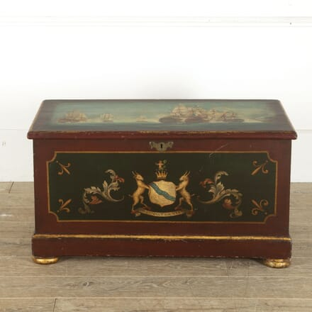 Early 19th Century Painted Pine Trunk CB8812382