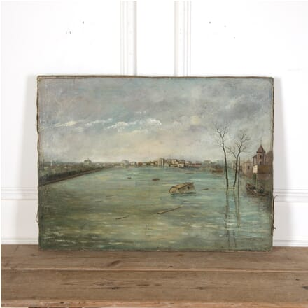 Early 20th Century Painting of The Seine WD9011659