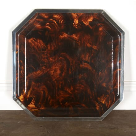 Faux Tortoiseshell and Chrome Cocktail Tray DA3013179