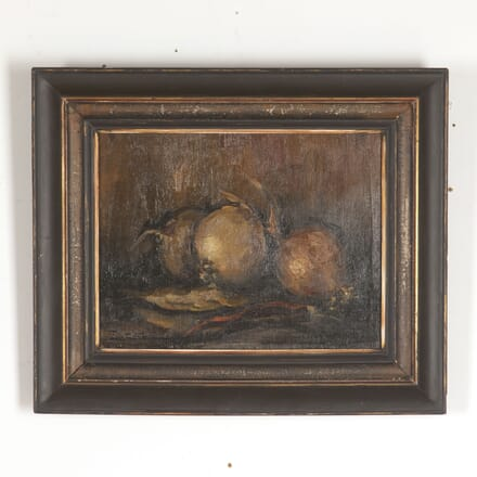 Framed Oil on Canvas Still Life of Onions WD4413358