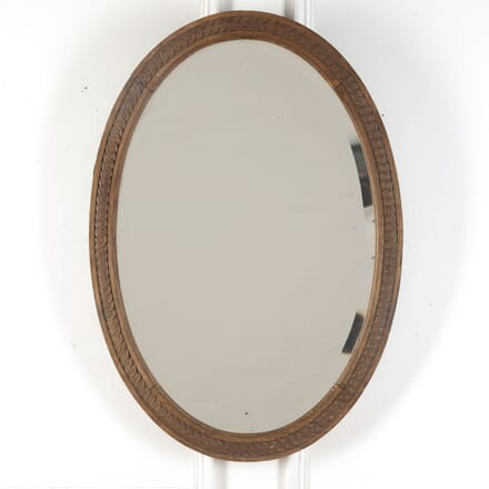 French 19th Century Oval Mirror MI3713131