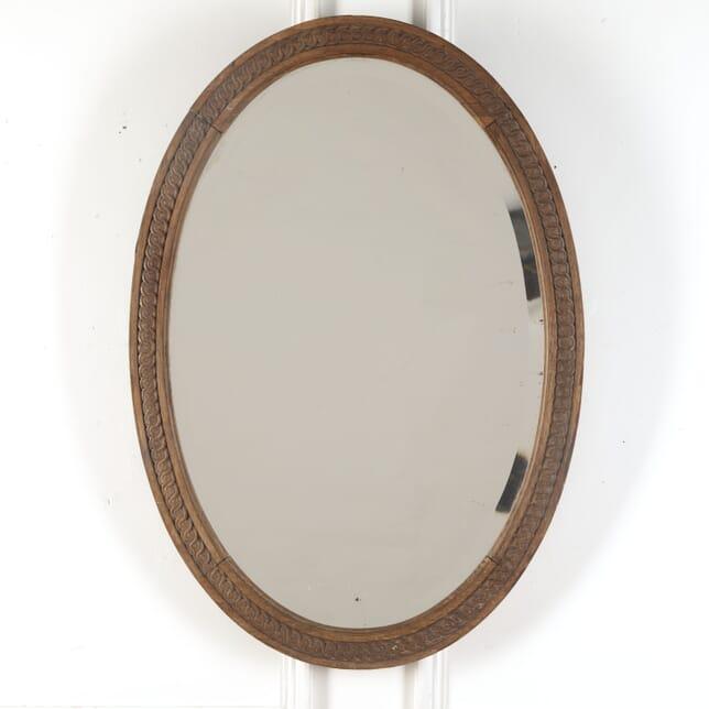 French 19th Century Oval Mirror MI3713131